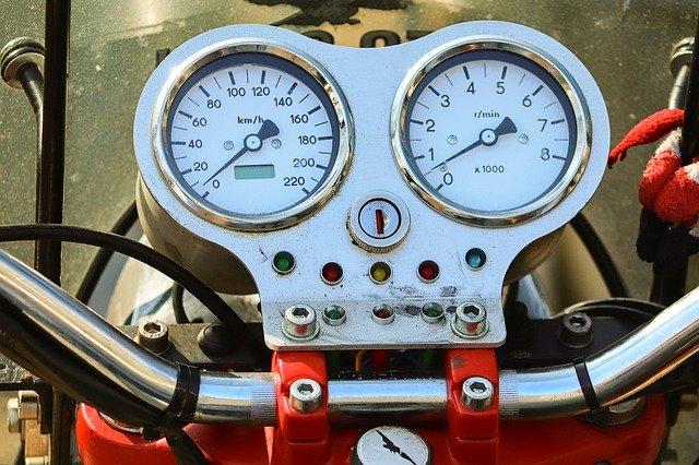 Motorcycle Speedometer and Tachometer