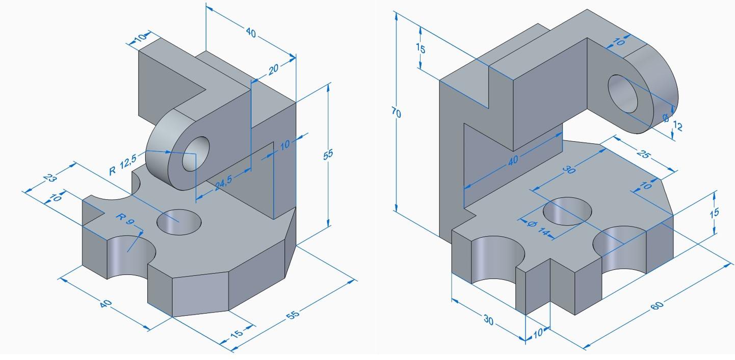 Solid Edge Tutorial : Part Modeling Exercise